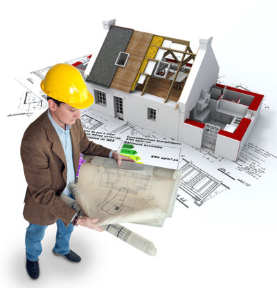 A roofing professional planning the construction process.