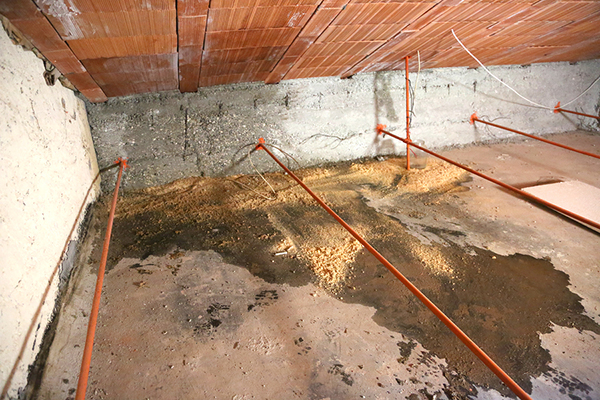 wet attic with moisture problems