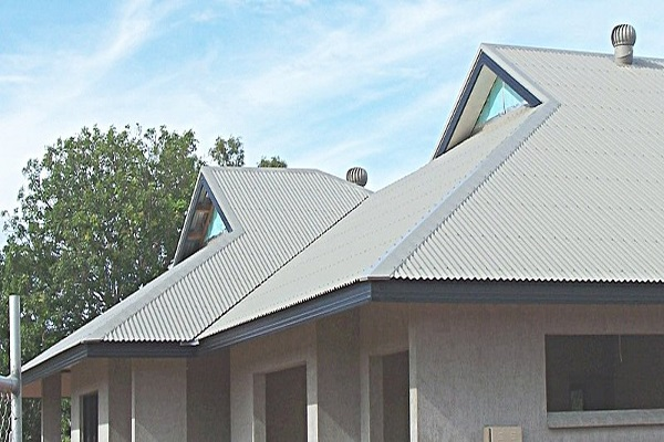 beautiful gable style roof on a modern home