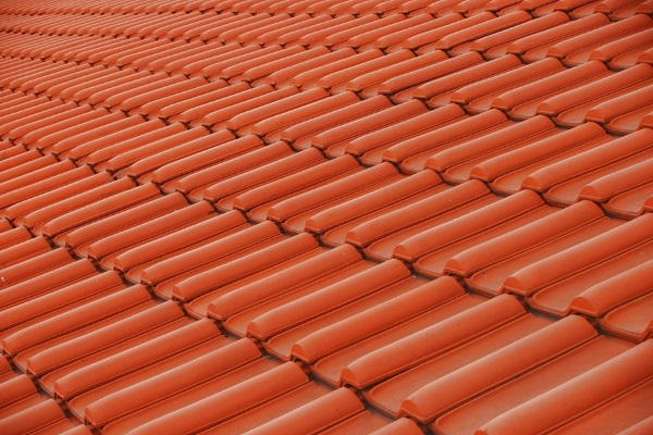 french-style clay tile roof