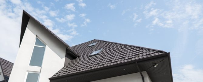 combination house roof design with skylights