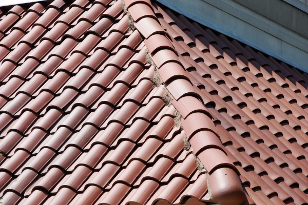 a newly-built section of clay tiles