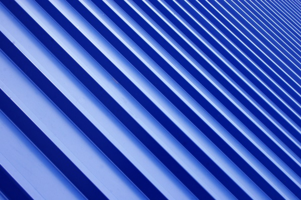 blue standing seam metal roofing