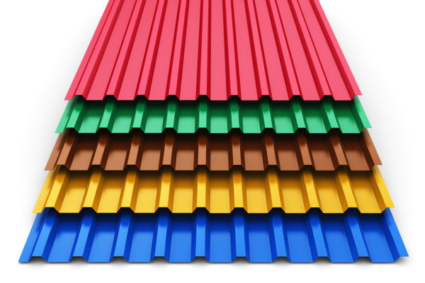 stacked color metal steel profile sheets