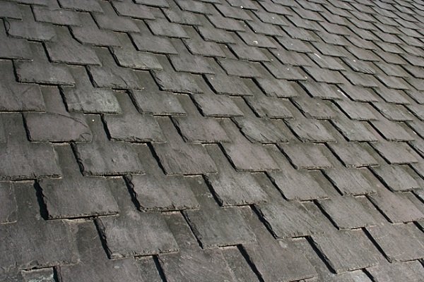 beautiful slate roof with symmetrical alignment