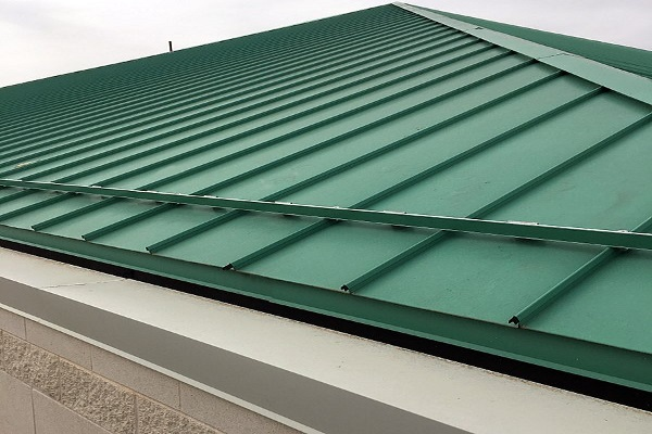 standing seam metal roofing newly installed for a residence
