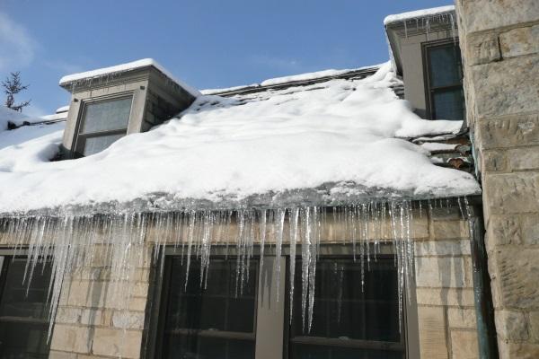 overflown gutters ice dams